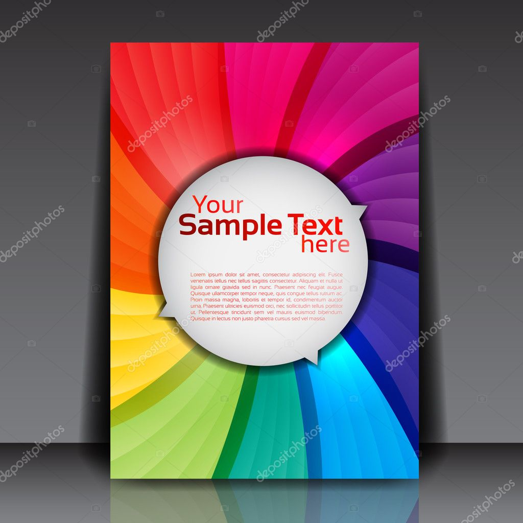 colorful flyer template stock vector © hunthomas 9370028 colorful flyer template stock illustration