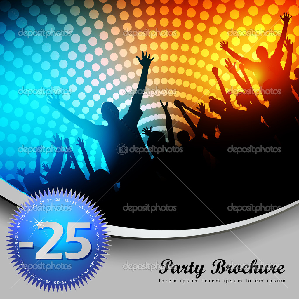 Party Brochure Template - EPS10 Vector Design — Stockvectorbeeld #9370050