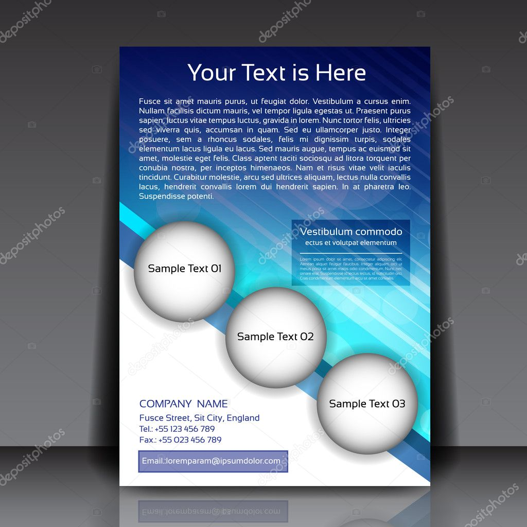 business flyer vector template stock vector copy hunthomas  business flyer eps10 vector background vector by hunthomas