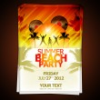 Summer Beach Party Flyer - Stock Vector