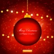 Red Holiday Xmas Ornament Vector Design — Stock Vector