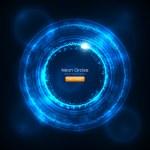 Neon Circles Abstract Vector Background — Stock Vector
