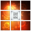 Orange Bokeh abstract light background — Stock Vector
