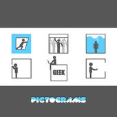 Pictograms Collection — Stock Vector