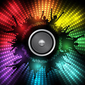 Party with Audio Speaker Vector Background — Stock Vector