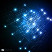Eps10 3d disegno vettoriale di rete colorata — Vettoriale Stock