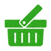 孤立在白色背景上的绿草袋子 — 图库矢量图片