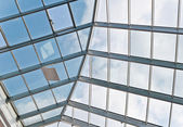 Glass and metal ceiling — Stock Photo