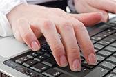 Woman using laptop — Foto Stock