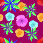 Flowers seamless pattern — Stock Vector