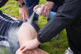 Injured player — Stock Photo