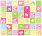 Baby background in color — Stock Vector