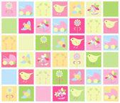 Baby-hintergrund in farbe — Stockvektor