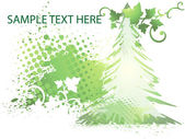 Winter green background with christmas trees. — ストックベクタ