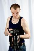 Fotógrafo de homem — Fotografia Stock