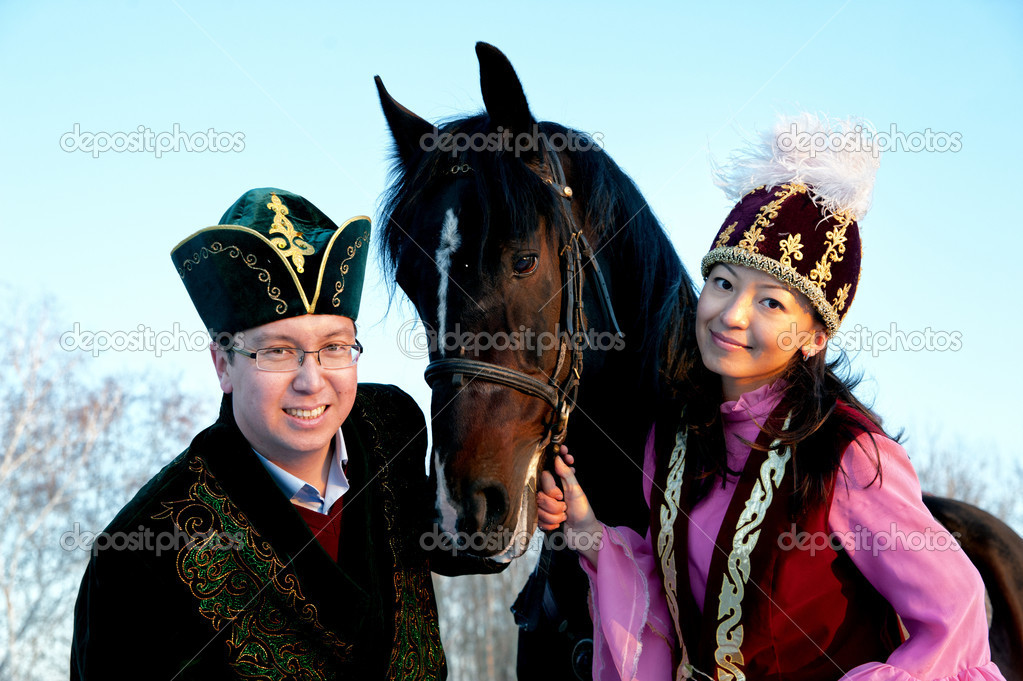 Fiance and fiancee on an equestrian walk — Stock Photo #8548481