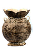 Vase rom a coconut — Stock Photo