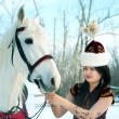 A girl is kazakh - Stock Photo