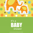 Stock Vector: Cute baby shower design. vector illustration