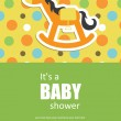 Cute baby shower design. vector illustration - Stockvektor
