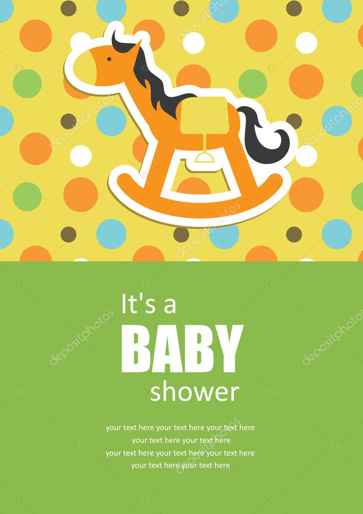 Cute baby shower design. vector illustration — Stock Vector #10472345