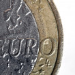 Stock Photo: 1 Euro Coin Macro