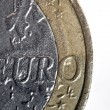 1 Euro Coin Macro — Stock Photo