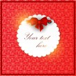 White invitation on red background - Stok Vektör