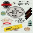 Stock Vector: Set of Superior Quality and Satisfaction Guarantee Badges, Label