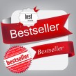Bestseller. Red banners and labels. Vector set — Stock Vector #10116832