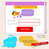 Speech bubbles for website template — Stock Vector
