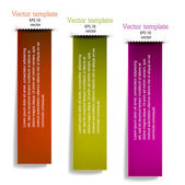 Colorful bookmarks for text. — Vettoriale Stock