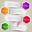 Stock Vector: Colorful bookmarks for text. Colorful paper arrows.