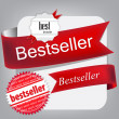 Bestseller. Red banners and labels. Vector set — Stock Vector #10629239
