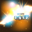 2012 Glittering background. Vector illustration. — Stok Vektör #8036780