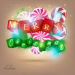 Merry  Christmas and Happy new year 2012. Vector background — Stock Vector