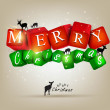 Merry Christmas and Happy new year 2012. Vector background — Imagen vectorial