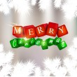 Merry  Christmas and Happy new year. Vector background — Imagen vectorial