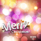 Elegant Christmas background with deers and place for text. Vect — Stockvector