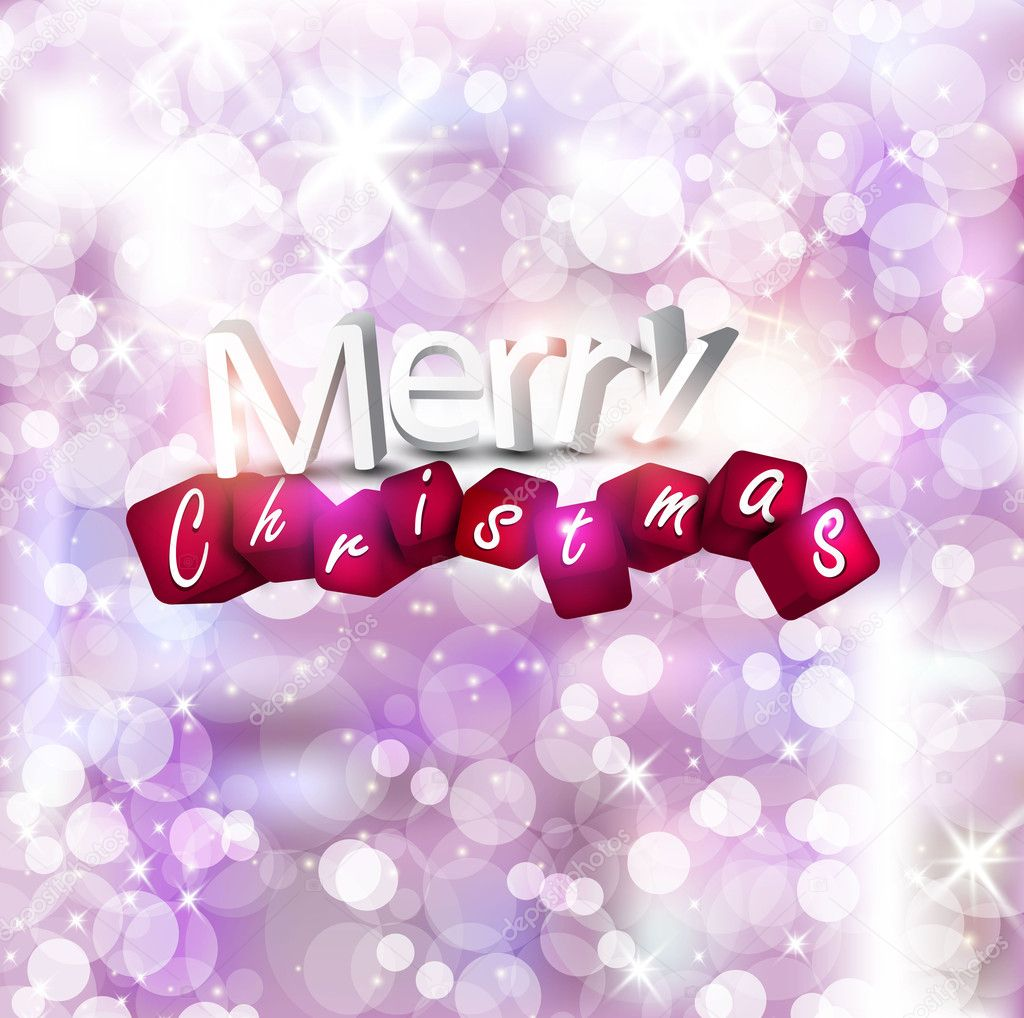 Elegant Christmas background with place for text. Vector Illustration. — Stock Vector #8036733
