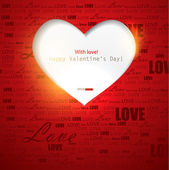 Gift card. Valentine's Day. Vector background — Vettoriale Stock