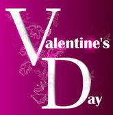 Gift card. Valentine's Day. Vector background — Stock vektor