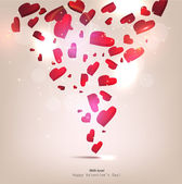 Beautiful vector background with hearts. Valentine's day — Vecteur