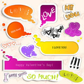 Colorful paper bubble for speech. Valentines day. — Stock Vector