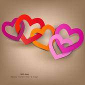 Hediye kartı. sevgililer günü. vektör arka plan — Stok Vektör