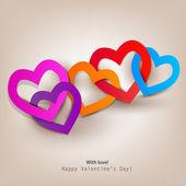 Carte-cadeau. valentin. fond de vecteur — Vecteur