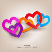 Gift card. Valentine's Day. Vector background — Vector de stock