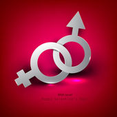 Abstract vector background with male female symbol — Cтоковый вектор
