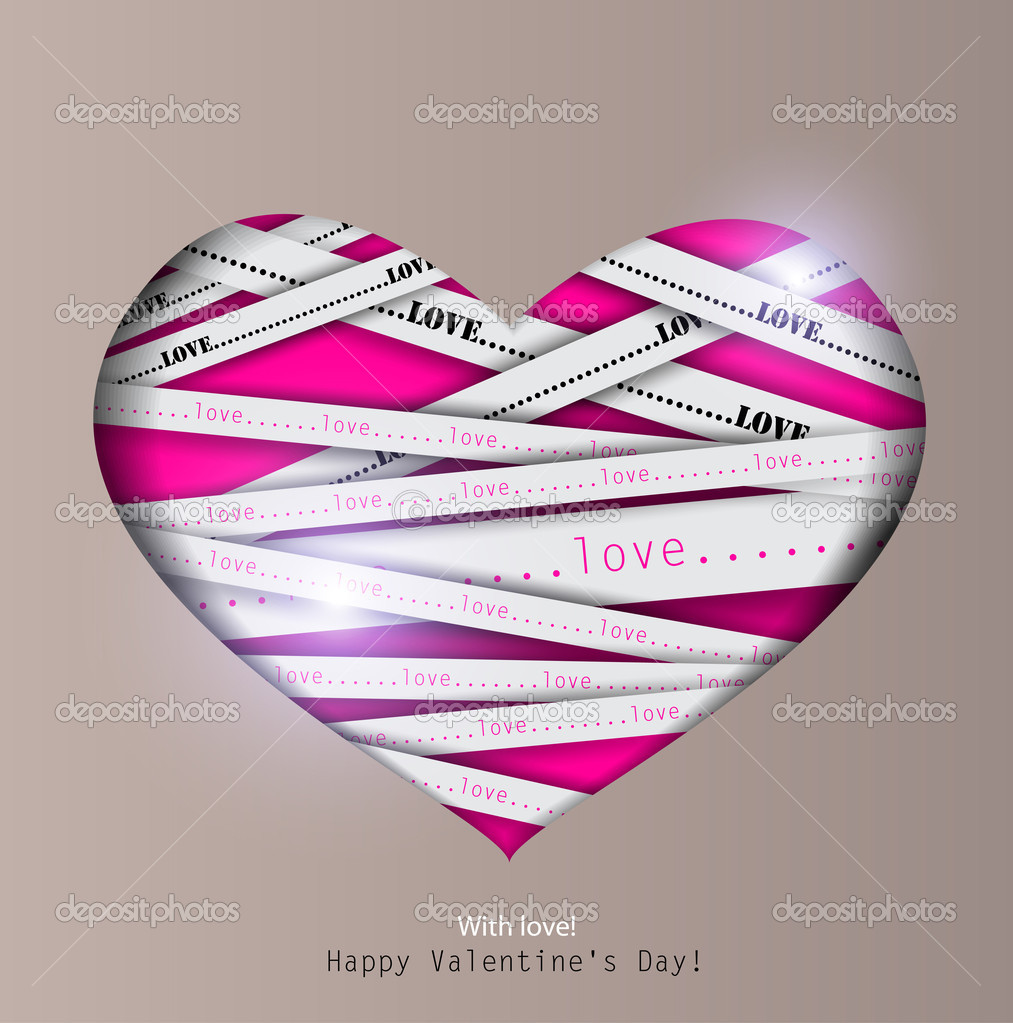 Gift card. Valentine's Day. Vector background — Stock Vector #8527643