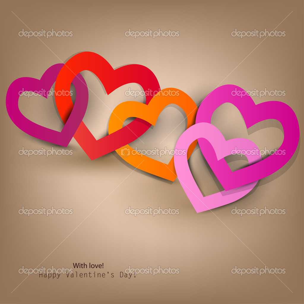 Gift card. Valentine's Day. Vector background — Stock Vector #8527664